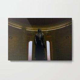 Thomas Jefferson statue in the Jefferson Memorial in Washington DC Metal Print