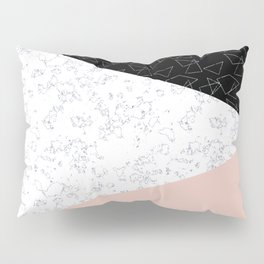 Patchwork pink and marble Pillow Sham