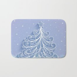 Christmas tree Bath Mat