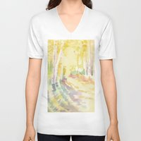 forrest V-neck T-shirts featuring Forrest by Susie McColgan