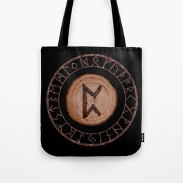 Perthro Elder Futhark Rune of fate and the unmanifest, probability, luck, nothingness, the unborn Tote Bag