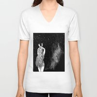 apollonia V-neck T-shirts featuring asc 604 - L'invocation à Vénus (Venus under the sky) by From Apollonia with Love