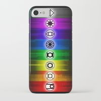 dc comics iPhone & iPod Cases featuring All Lantern Corps from DC Comics by Sberla