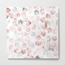 red leaves on the floor Metal Print