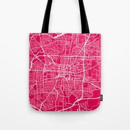 Greensboro map raspberry Tote Bag