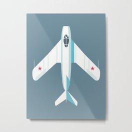 MiG-17 Fresco Jet Aircraft - Slate Metal Print