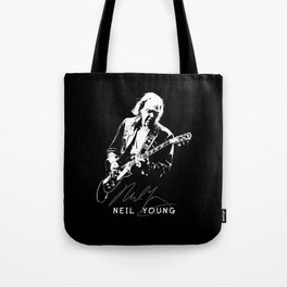 Neil Young-Rust never sleeps-Music,Folk,Rock Tote Bag
