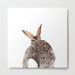 Bunny back side Metal Print