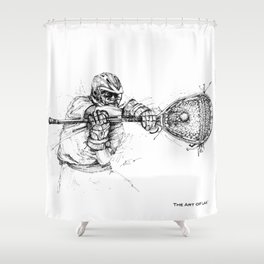 The Stopper (The Art of Lax™) Shower Curtain