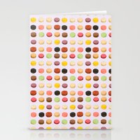macaron Stationery Cards featuring Macaron Love by Electric Avenue