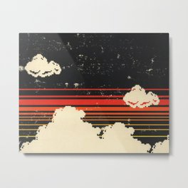 Clouds in the Sky at Night Metal Print