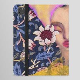 Enchanted Garden Romantic Floral Art Nouveau Watercolor Portrait iPad Folio Case