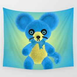 Blue Mouse Wall Tapestry