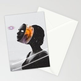 Cosmic Woman from Other Space Stationery Cards