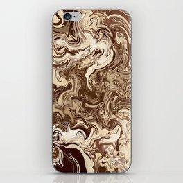 Chocolate Swirl iPhone Skin
