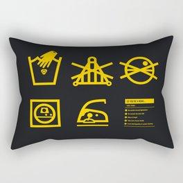 Care Instructions: Rebel Rectangular Pillow