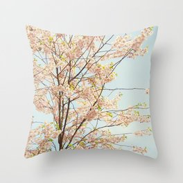 Blooming Nature Throw Pillow