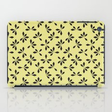 loves me loves me not pattern - banana yellow iPad Case