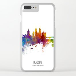 Basel Switzerland Skyline Clear iPhone Case