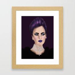 Punk Pearl Framed Art Print