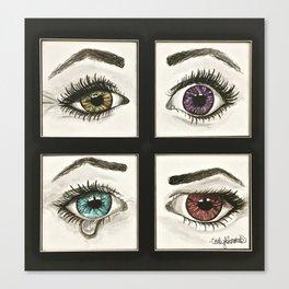 Eyes Show Emotions Canvas Print