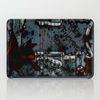 rock and roll iPad Cases featuring Rock 'n Fucking Roll by Eric Rasmussen
