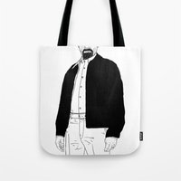 walter white Tote Bags featuring Walter White by Nick Cocozza