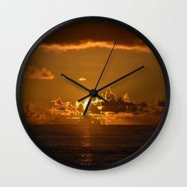 Samoan Sunset Wall Clock