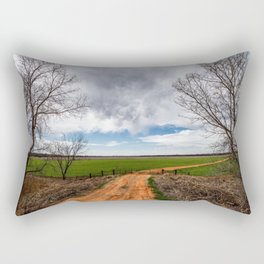 Take Me Home - Old Country Road in Oklahoma Rectangular Pillow