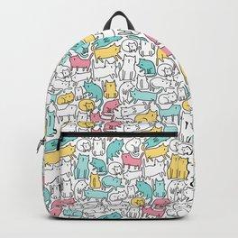 Cute kitties. Cats pattern. Backpack