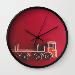 Vintage Red Truck Wall Clock