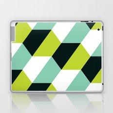 Lime green & turquoise hexagon pattern Laptop & iPad Skin