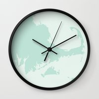 cape cod Wall Clocks featuring Cape Cod by Yellow Chair Design