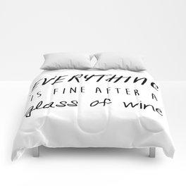 Fine with Wine Comforters