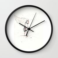 robot Wall Clocks featuring Robot by Elias Klingén