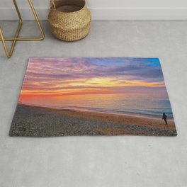 Comer Beach at Sunset Rug