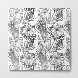 Tillandsia Tile Metal Print