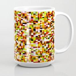 Red yellow pixel noise static pattern Coffee Mug