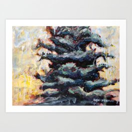 Route to Happiness Tree Art Print