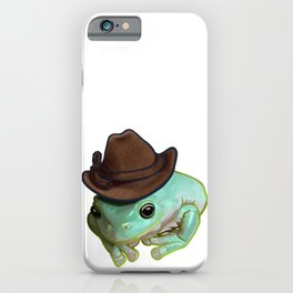 Howdy Howdy Cowboy Frog Funny Halloween Pet Costume iPhone Case