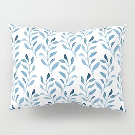 blue watercolor vines Pillow Sham