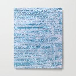 Blue Water Aqua Splash Beading Bouy Metal Print