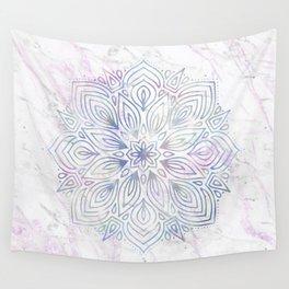 Marble Mandala - Purple Blue Rose Gold Wall Tapestry