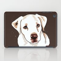 golden retriever iPad Cases featuring Golden retriever by Pendientera