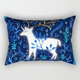 Deericorn In Blue Rectangular Pillow