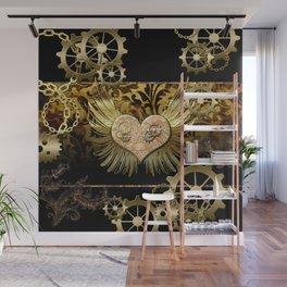 Steampunk, heart Wall Mural