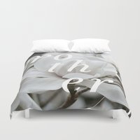 mother Duvet Covers featuring Mother by .eg.