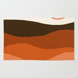 Choice - retro 70s style vibes sunset mountains desert ocean minimalist decor hipster 1970s Rug