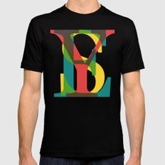 YES Black Mens Fitted Tee X-LARGE