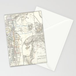 Old 1865 Historic State of Palestine Map Stationery Cards